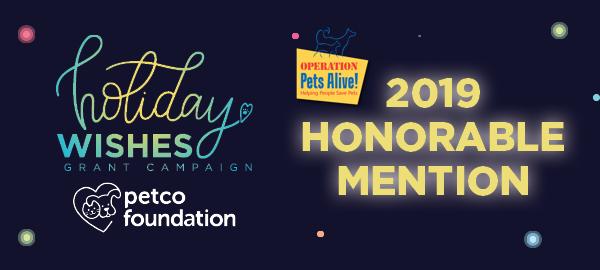 Petco Holiday Wishes 2019 Grant Award